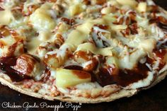 Grilled Chicken Gouda Pineapple Pizza Recipe