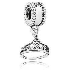Disney Belle Tiara Charm by PANDORA | Disney StoreBelle Tiara Charm by PANDORA - Rejoice in the ''great wide somewhere'' with Belle's tiara dangle charm. Made of sterling silver, this charm has ''Belle'' engraved on the ball to honor our most well-read princess.