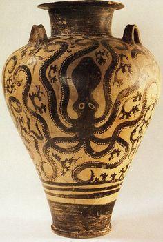 "Minoan ""Palace style,"" vessel (ca. 15th century BCE, Athens National Museum)"
