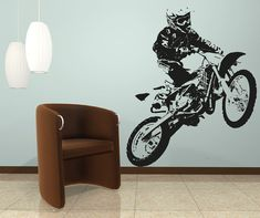 Vinyl Wall Decal Sticker Motocross OSAA194B by Stickerbrand