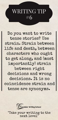 Powerful advice for writing conflict and page-turners.