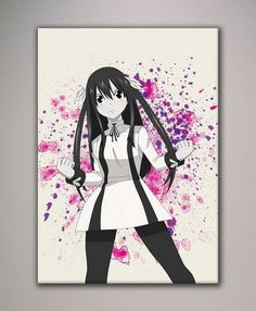 Fairy Tail Wendy Marvell Watercolor Painting Wall Art poster - F007