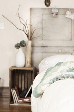DIY Vintage Kopfteil Für Ihr Bett Selber Machen Blau Holzplatten Bettwäsche    BEDROOM   Pinterest   Decorating And Bedrooms