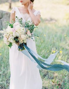 View entire slideshow: 10 Ribbon Bouquets on http://www.stylemepretty.com/collection/3444/