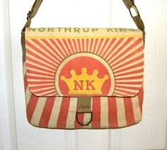 Northrup King Sterling feed sack upcycled by LoriesBags on Etsy