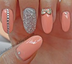 Nails Art Tutorials: Unghii Peach - Peach Nails