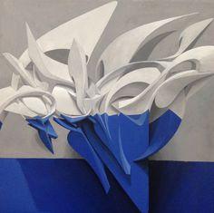 PEETA « The Brusher » Mixed media on canvas 40 x 40 cm 2015  Enquiries - salvador.ayrton@gmail.com  Tags - street art, urban art, graffiti, 3D, texture, textural, structure, structural, design, style, stylish, cubism, cubistic, angular, shape, pattern, artwork, wall, mural, futurism, graffuturism, sculpture, sculptural, canvas, lettering, depth, contemporary art, anamorphic, letter junkie, sharp edged, abstruse, complex, character, hypnotic, mesmerizing, acrylics, brush, aerograph