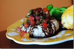 Mozzarella-Stuffed Bruschetta Turkey Burgers with Balsamic Glaze are outrageous and fresh!   iowagirleats.com