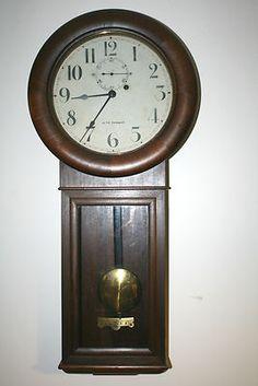 Seth Thomas Regulator Wall Clock #antiquewallclock