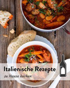 Italienische Rezepte zu Hause kochen Marley Spoon, Peanut Butter Cups, Chana Masala, Curry, Keto, Ethnic Recipes, Food, Mediterranean Style Kitchen Designs, Italian Recipes