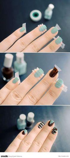 nail art designs easy * nail art designs & nail art & nail art designs for spring & nail art videos & nail art designs easy & nail art designs summer & nail art diy & nail art tutorial Love Nails, How To Do Nails, Fun Nails, Pretty Nails, How To Nail Art, Cute Easy Nails, Style Nails, Chic Nails, Nail Art At Home