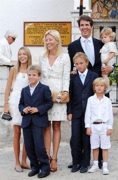 pavlos and marie-chantal of greece with their children
