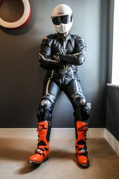 Biker lads and trackie lads to the front please Motorcycle Suit, Motorcycle Leather, Biker Leather, Leather Men, Biker Helmets, Biker Gear, Tron Bike, Mx Boots, Motard Sexy