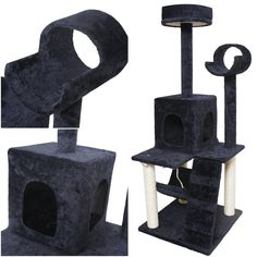 Mighty Popular Size 52' Cat Tree Fun Toy Play Activities Condo Scratch Post Color Navy ** Check this awesome product by going to the link at the image. (This is an affiliate link and I receive a commission for the sales) #hashtag