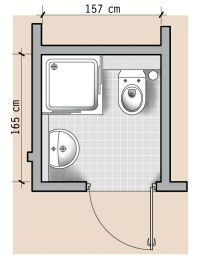 testowy: 13 czyli o łazienkach w domu. Small Shower Room, Small Toilet Room, Small Bathroom Layout, Bathroom Red, Tiny Bathrooms, Tiny House Bathroom, Bathroom Interior, Minimalist Small Bathrooms, Bathroom Dimensions