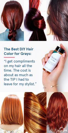 "The easy solution to cover gray hair: ""I love it . - hair color esalon hair styles hair dye beauty ideas makeup chestnut colors summer fall trends haircut custom root touch up - Haar Bracelete Tattoo, Hair Colour Design, Covering Gray Hair, At Home Hair Color, Cover Gray, Diy Hairstyles, Hairstyle Ideas, Hair Colors, Hairdresser"