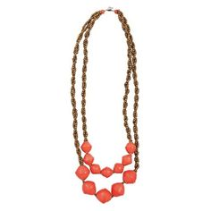 Coral Daylight Drop Necklace by 31 Bits - SET & STYLE (Free Shipping)