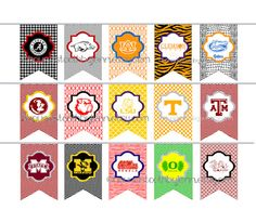 College pendants work pinterest college and teacher college football tailgate birthday party banners pdf instant download mozeypictures Image collections