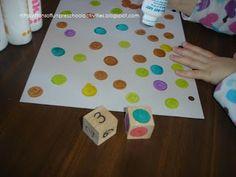 ממלאים את הדף בנקודות לפי הקוביה  [טושטושים או מדבקות]    Tons of Fun: Dot Marker Counting