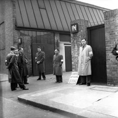 1957  A picket line during the Engineers Strike