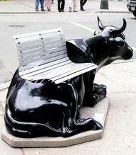 Street Art Public Scuplture - Cowich by Peter Hanig-Chicago Outdoor Sculpture, Outdoor Art, Sculpture Art, Sculpture Garden, Cow Parade, Cultural, Art Object, Art Plastique, Urban Furniture