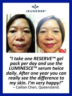 Individual results may vary. #skincare #beauty #antiageing #serum #foreveryoung #jeunesse #luminesce #glowingcomplexion #nomorewrinkles #skinproducts #parabenfree #hypoallergenic #reserve #antioxidants #reserveratol