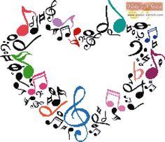 Music heart cross stitch kit | Yiotas XStitch