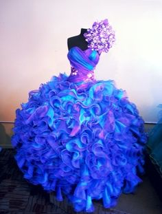 Gorgeous blue and purple gown! Check out more styles of dresses here: http://www.quinceanera.com/quinceanera_dresses/?utm_source=pinterest&utm_medium=category-landing-page-dresses&utm_campaign=294-xv-dresses