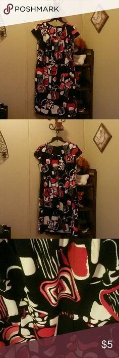 Designer Dress by Olivia Matthews Pink, white, red and black dress Olivia Matthews Dresses
