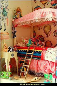 Boho girls theme bedroom decorating ideas