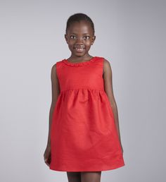 $30 Red party dress for girls made with rami linen Girls Party Dress, Girls Dresses, Summer Dresses, Metal Buttons, 6 Years, Boy Or Girl, Kids Outfits, Cold Shoulder Dress, Red Party