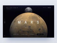 Blue dot - 🌒 and Mars trips designed by Natalie Kirejczyk for ETHWORKS. Minimal Web Design, Design Web, Neon Design, Navigation Design, User Interface Design, Website Design Inspiration, Web Layout, Layout Design, Moodboard App