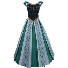 Vogue Bridal Halloween Cosplay Costume Princess Coronation Dress ($72) ❤ liked on Polyvore featuring costumes, dresses, cosplay halloween costumes, bridal costume, princess bride costume, role play costumes and blue costume