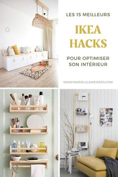 15 IKEA hacks pour optimiser son intérieur For an organized and optimized interior, discover all of our IKEA hacking ideas! Ikea Furniture Hacks, Home Furniture, Ikea Hacks, Boho Living Room, Living Room Decor, Ikea Hack Bathroom, Ikea Inspiration, Ikea Home, Home Hacks
