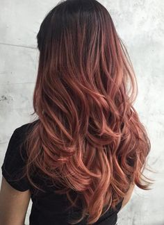 Rose Brown Hair With Black Roots