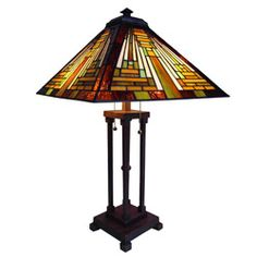 Tiffany Style Chloe Mission Design Antique Bronze Table Lamp