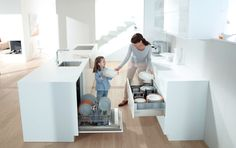Make your kitchen practical: Divide your kitchen into 5 zones... Zone 2: Non-consumables: designed for cutlery/crockery/glasses etc. plan the dishwasher close by! Find out more at http://www.blum.com/gb/en/03/10/10/