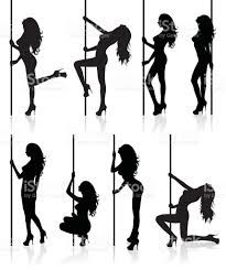 Image result for pole dance silhouettes vector