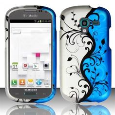 Need a new style for your #Samsung #Galaxy #Exhibit #T599? Choose a #Hard #Case #Cover - Blue Vines Texture to protect your phone and make it more beautiful! You'll be satisfied. Own it at $9.99, free shipping.