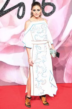 Olivia Palermo wearing MITSU to the Fashion Awards 2016 in London