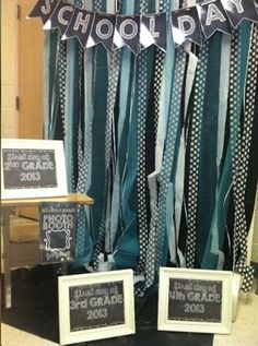 Back to School Photo Booth- LOVE IT! Wouldn't this be cool for teachers. Take their pictures for yearbook. Include props and let them have fun!
