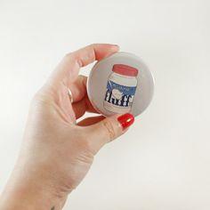 Marshmallow Fluff Pocket Mirror
