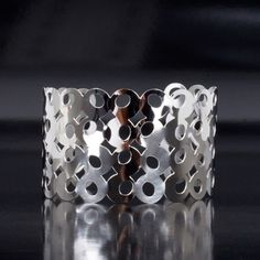 Circles Stainless Steel Cuff now featured on Fab.