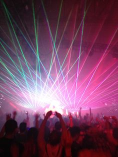 Rave , amazing lights music sound turn up bass an dance love the colors