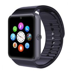 GT08 SIM Card GSM GPRS Bluetooth Smart Watch for iOS & Android Cellphone Black