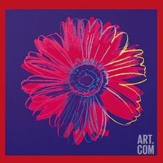 Andy Warhol Flowers Giclee Canvas Print Paintings Poster Reproduction LARGE SIZE