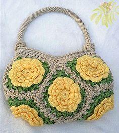 Compare Prices on Handmade Crochet Bag- Online Shopping/Buy Low . Crochet Tote, Crochet Handbags, Crochet Purses, Hobo Bag Patterns, Granny Square Bag, Crochet Shoulder Bags, Bag Pattern Free, Art Bag, Crochet Flower Patterns