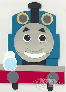 Thomas the Tank Engine. Adorable for a child's birthday.