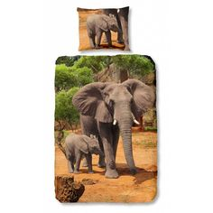 Kids-Style Dekbedovertrek 4809 Olifant met jong
