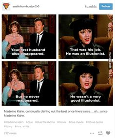 """Because Mrs. White will forever be your favorite. 